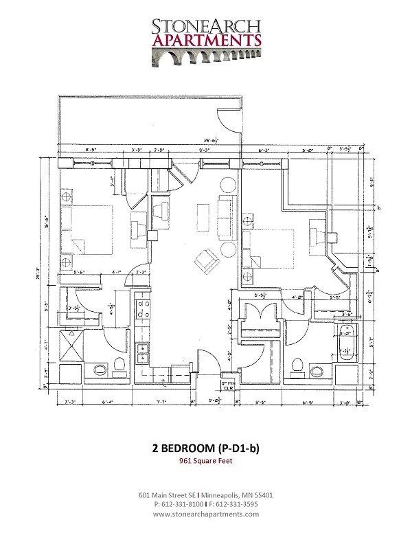 2x2 Floor Plan 35