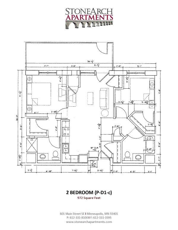 2x2 Floor Plan 36