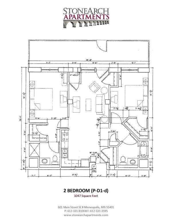 2x2 Floor Plan 37