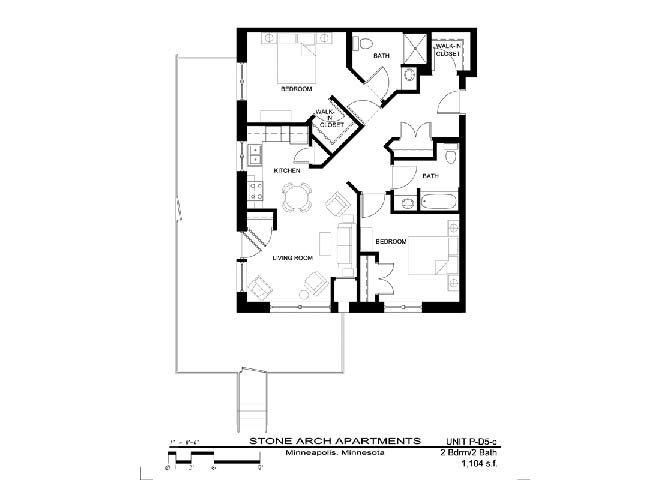 2x2 Floor Plan 40