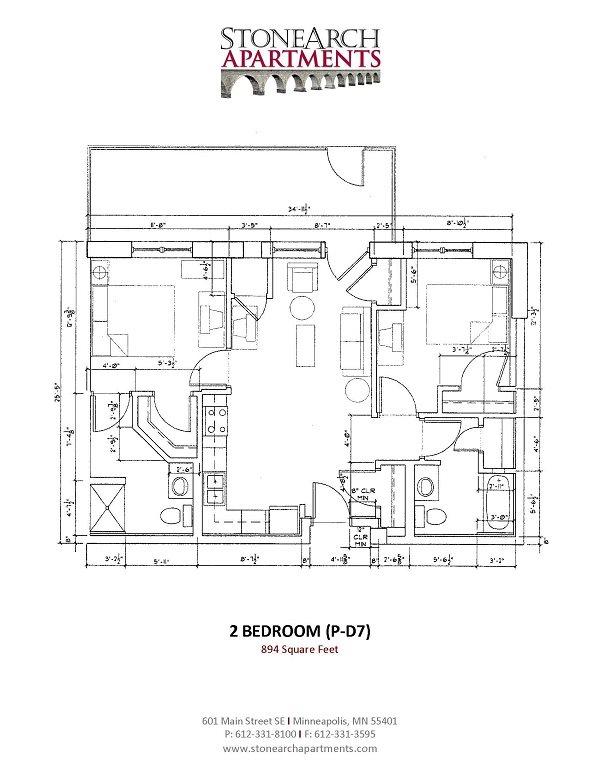 2x2 Floor Plan 42