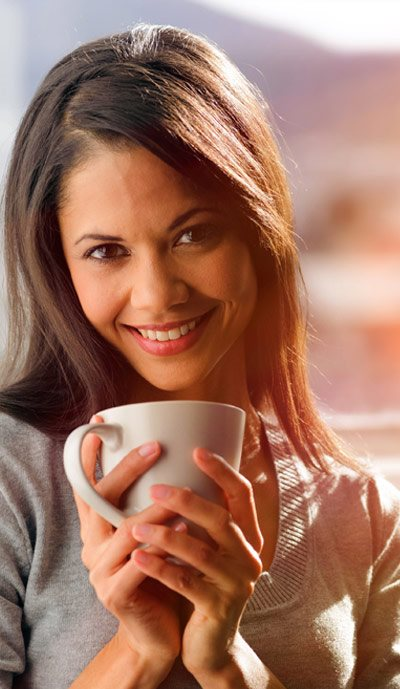 Stock image- Drinking Coffee