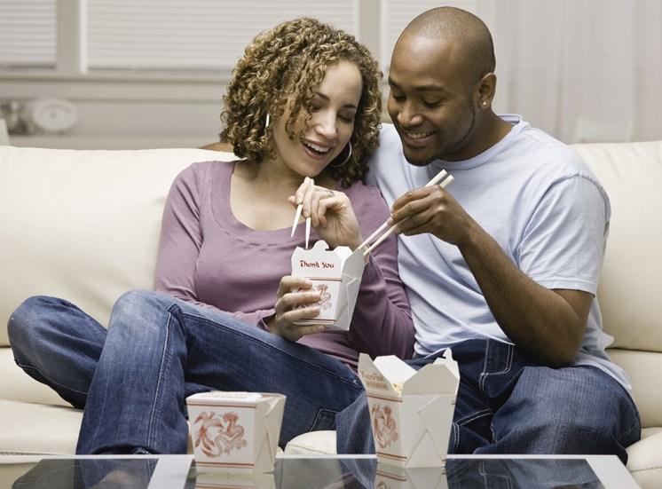 Couple Eating at Tori Pines