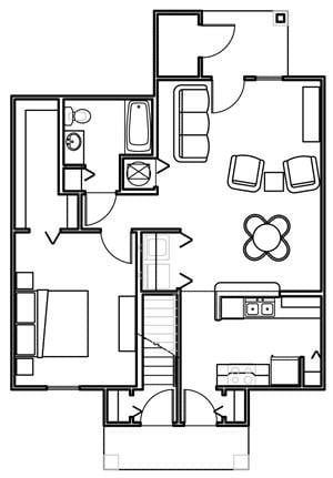 Floor Plan at Lakeview Apartments, 136 N. 10th St, Lyons, Georgia