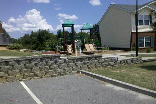 Tot Lot and Playing Field, Lakeview Apartments, Lyons, GA