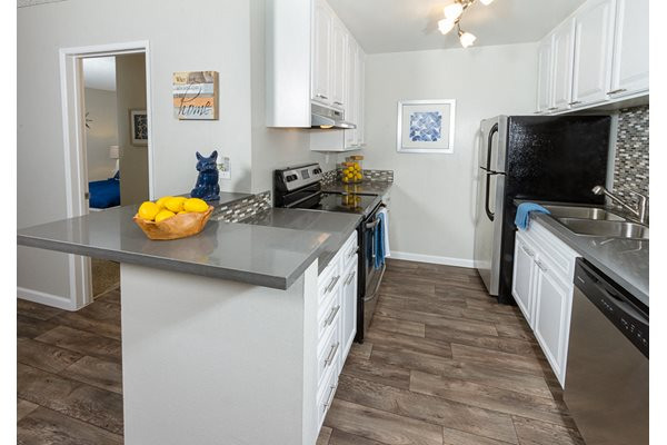 Fully equipped kitchen at Park Regency Club, Downey, CA,90242