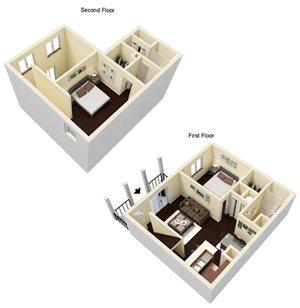 2 Bed 2 Bath Loft