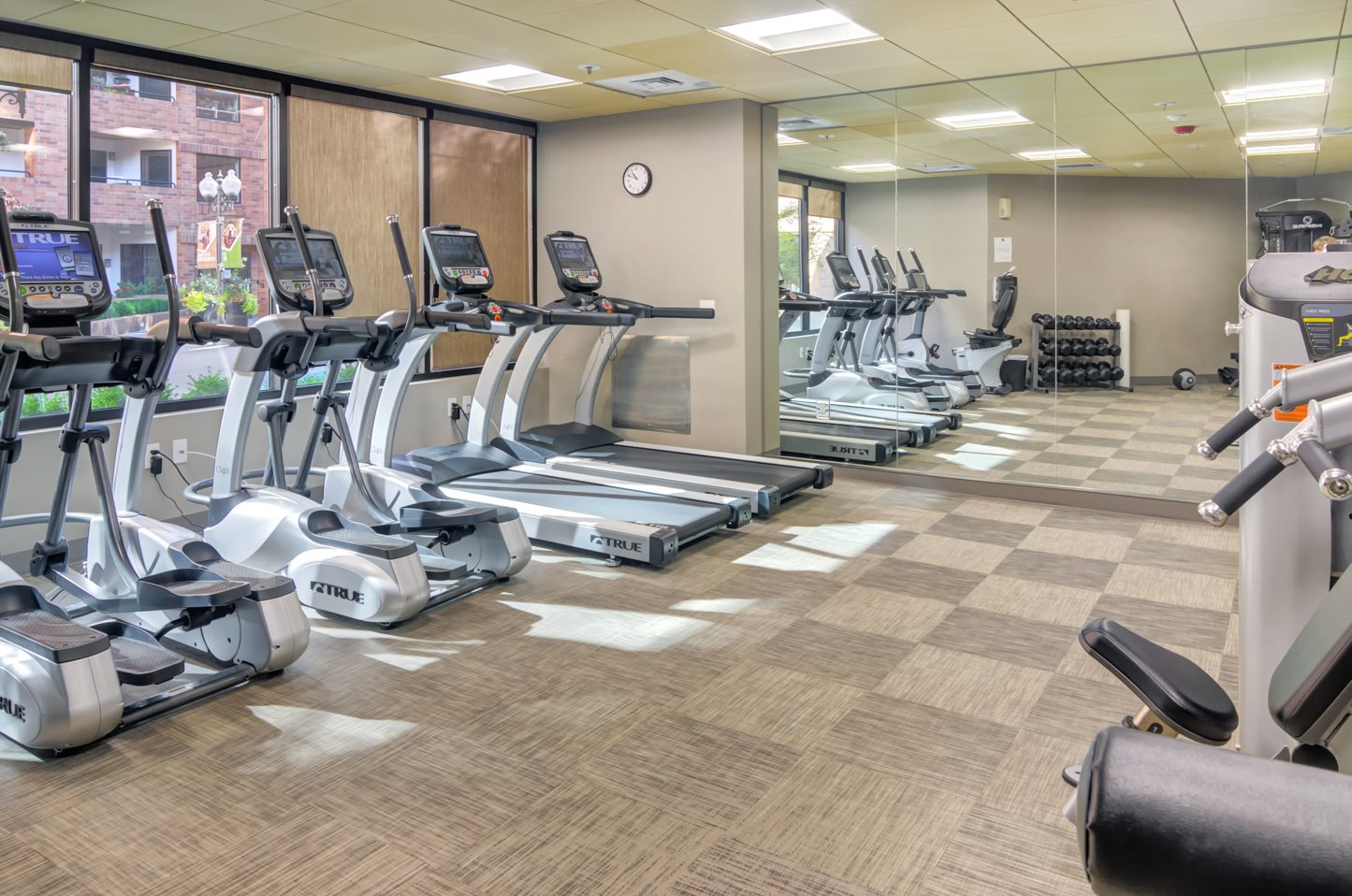 renovated fitness center with state-of-the-art equipment