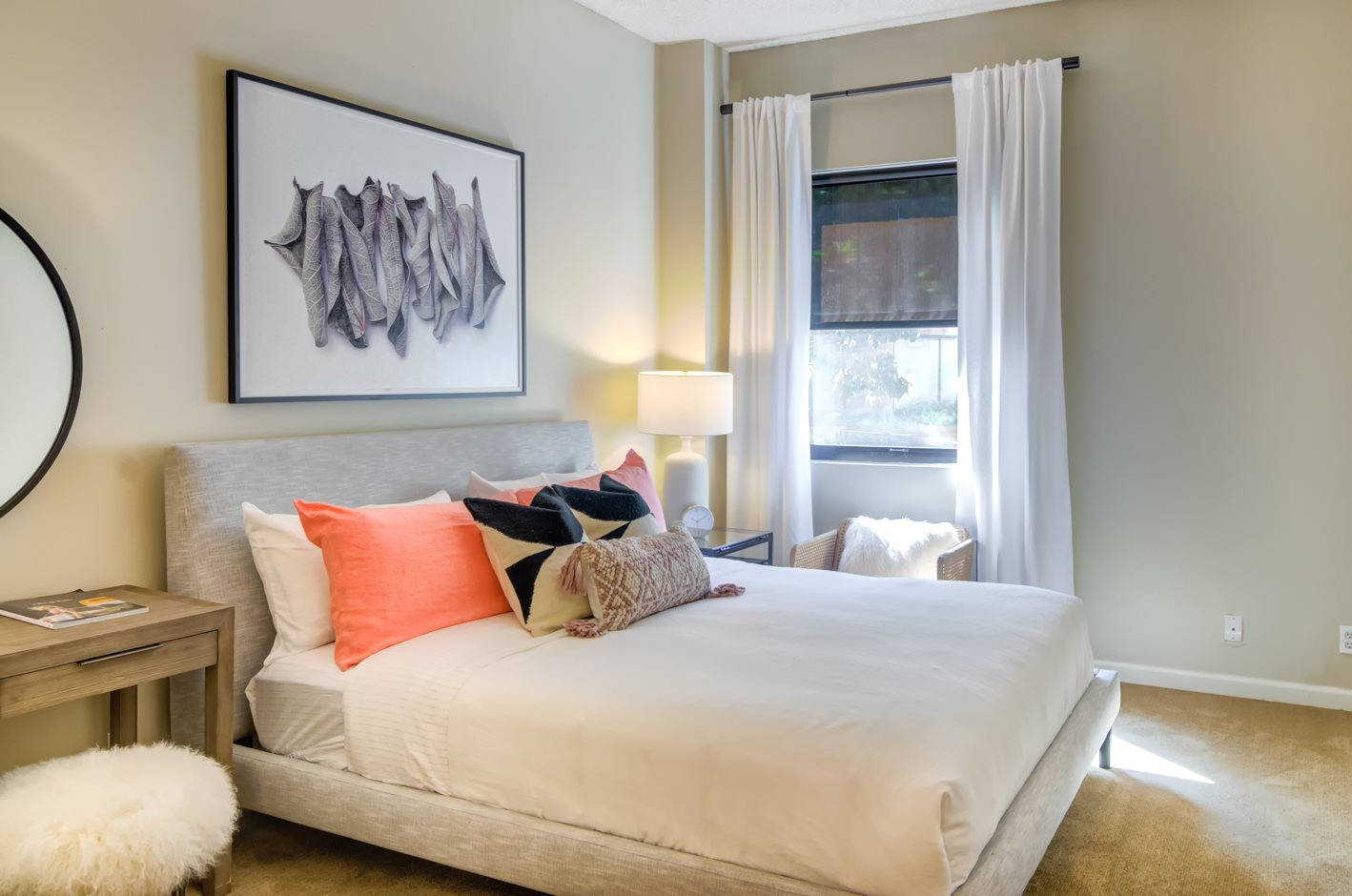 One Bedroom Apartments in Downtown Portland OR - Southpark Square Spacious Bedroom with Large Closet