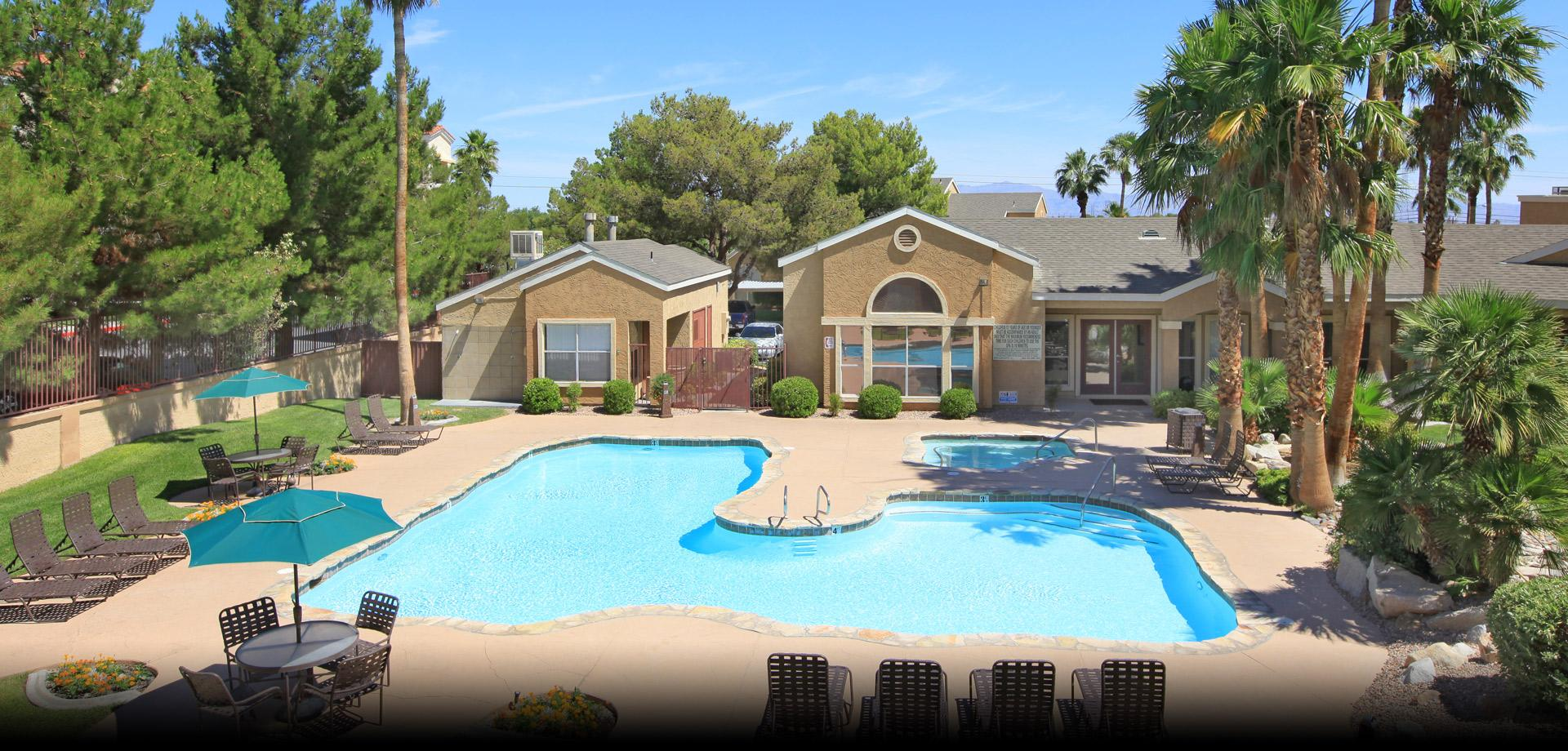 Poolside Sundeck And Grilling Area At Renaissance Villas Apartment Homes,  Nevada, 89103