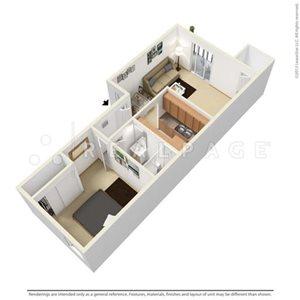 One Bedroom 708 SqFt