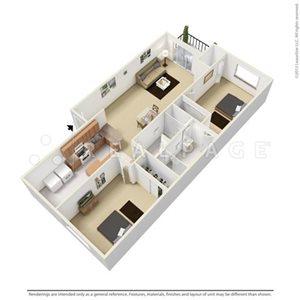 Two Bedroom 949 SqFt