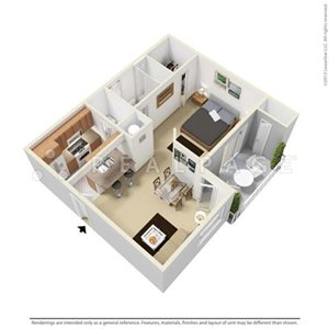 A1 Floorplan at Park Aire