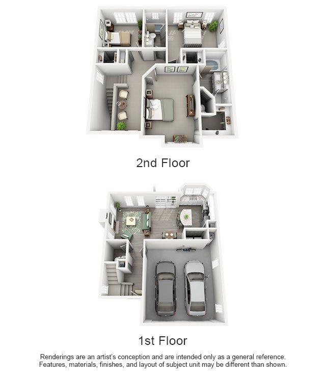 Overton Trails Apartment Homes - 3 Bedroom 2.5 Bath Apartment