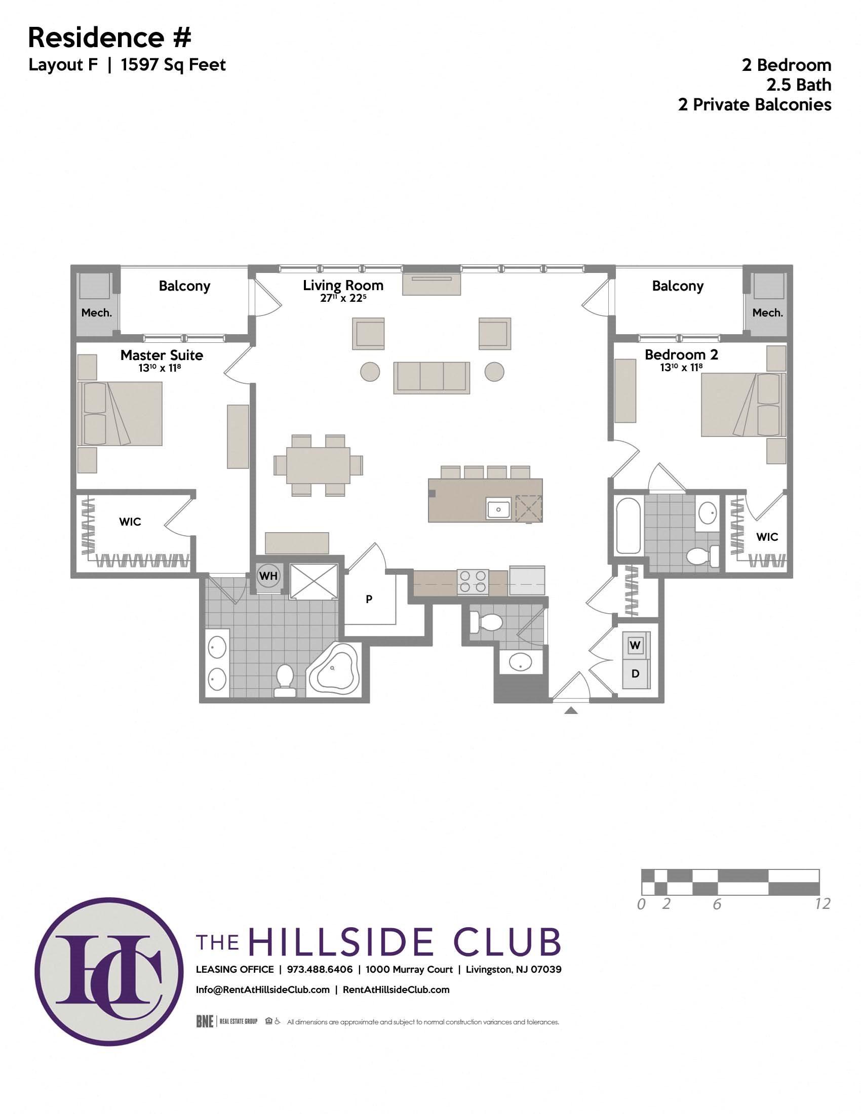 Layout F Floor Plan 1