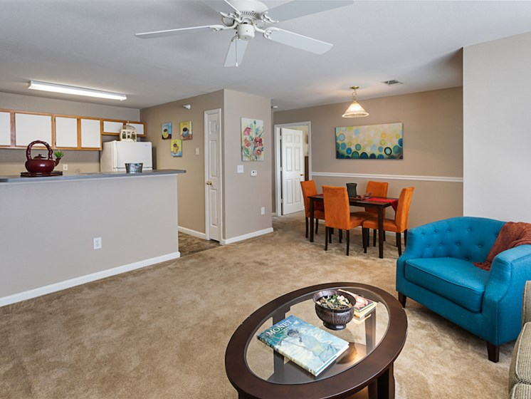 Apartment living room-Waterbrook Apartments Lincoln, NE
