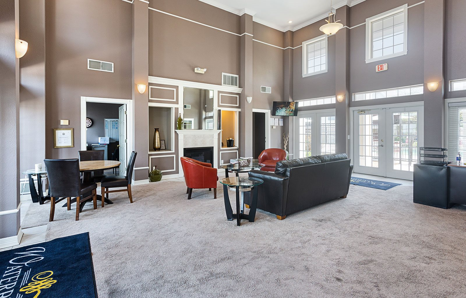 Leasing office interior-Waterbrook Apartments Lincoln, NE