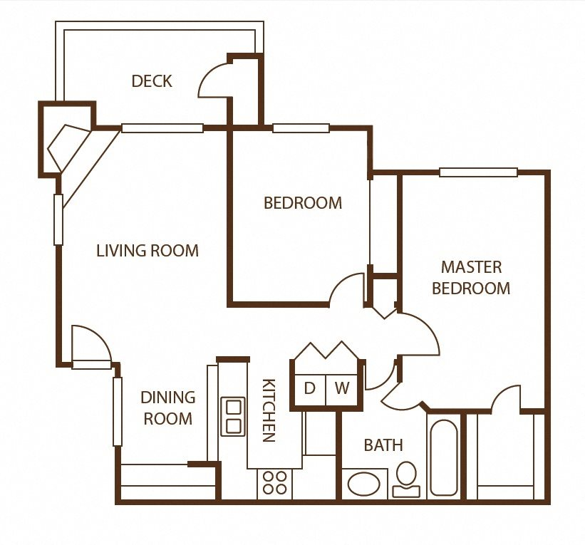 2 bedroom 1 bath w/loft Floor Plan 4
