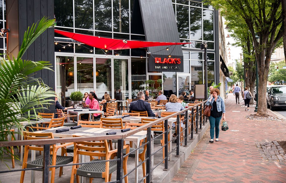 Black's Bar and Kitchen is right nearby The Metropolitan in Bethesda, Maryland.