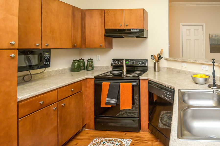 Roomy kitchens at Austin apartment