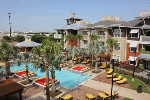 Pool- aerial view