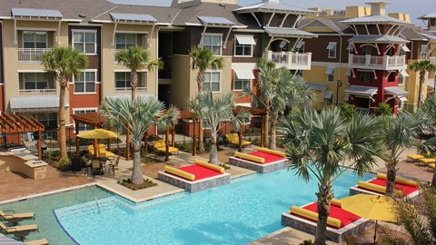 Lewisville TX Apartments - Hebron 121 Pool with Tanning Areas