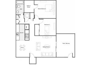 Two Bedroom/ One Bathroom