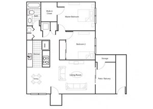 Two Bedroom/One Bathroom