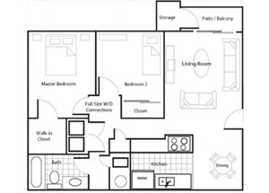 Two Bedroom/One Bathroom