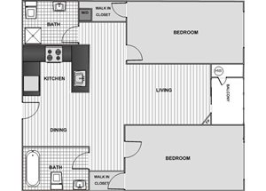 Two Bedroom Two Bath A - Phase 1