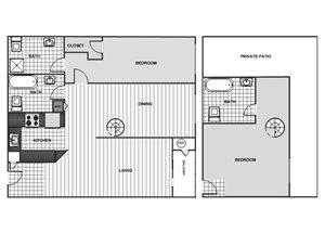 One Bedroom Loft - Phase 1