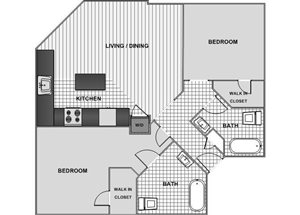 Two Bedroom Two Bath B - Phase 1