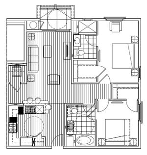 Two Bedroom Two Bath G - Phase 2
