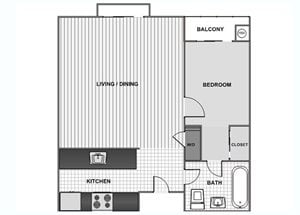 One Bedroom A - Phase 1
