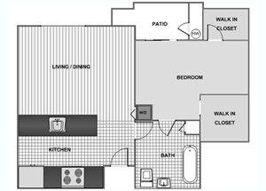 One Bedroom C - Phase 1
