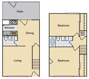 Two Bedroom Townhouse