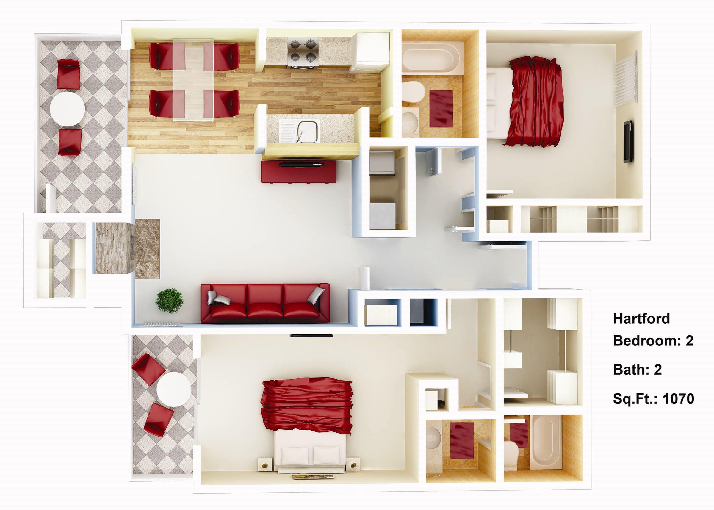 1070 sq. ft. Magnolia Floor Plan 6