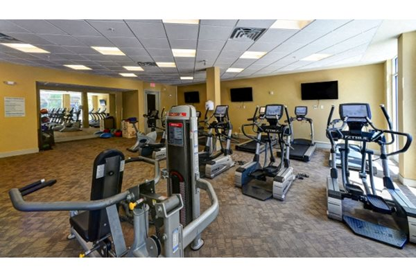 Fitness Center at 401 Oberlin Apartments in Raleigh NC