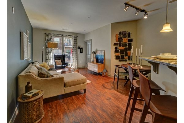 Open floor plan at 401 Oberlin Apartments in Raleigh NC