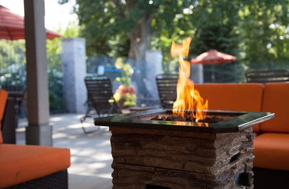 Fire Pit at Woodland Ridge Apartments in Grand Haven, MI