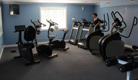 Fitness Center at Woodland Ridge Apartments in Spring Lake