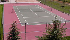 Tennis Court at Apartments in Spring Lake