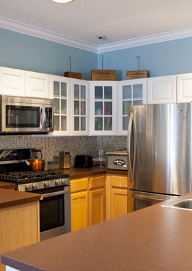Kitchen of apartments in Spring Lake