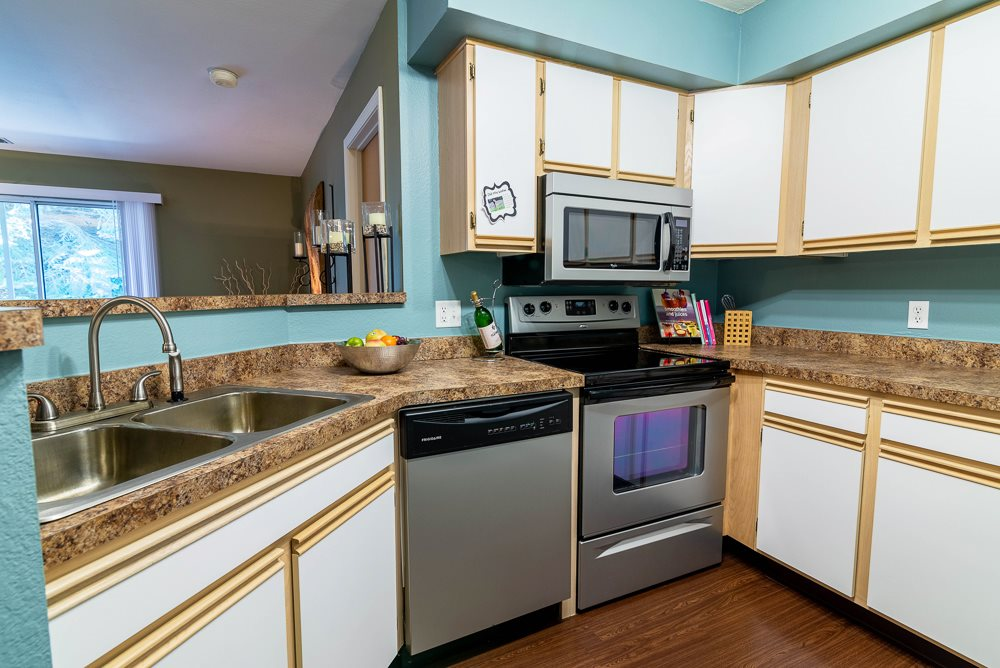 Spacious Kitchen at Woodland Ridge Apartments in Grand Haven, MI