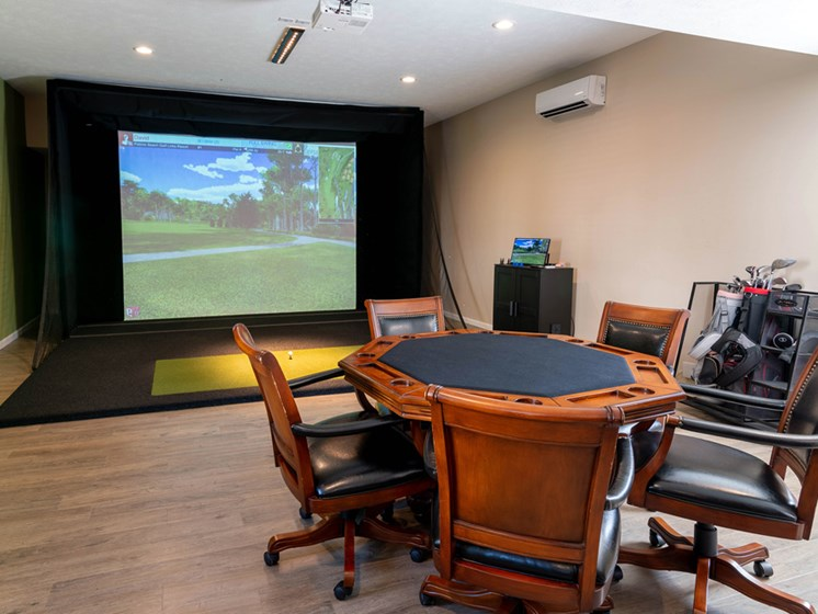 Golf Simulator at Woodland Ridge Apartments in Grand Haven, MI