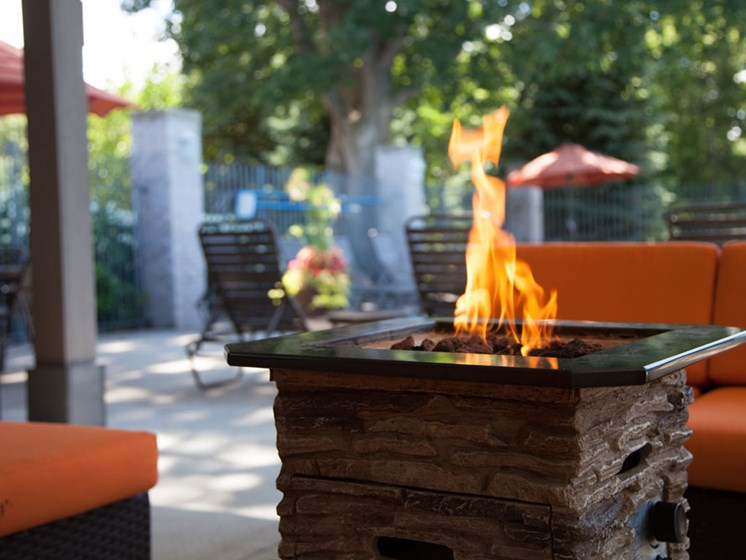 Fire Pits at Woodland Ridge Apartments in Spring Lake MI