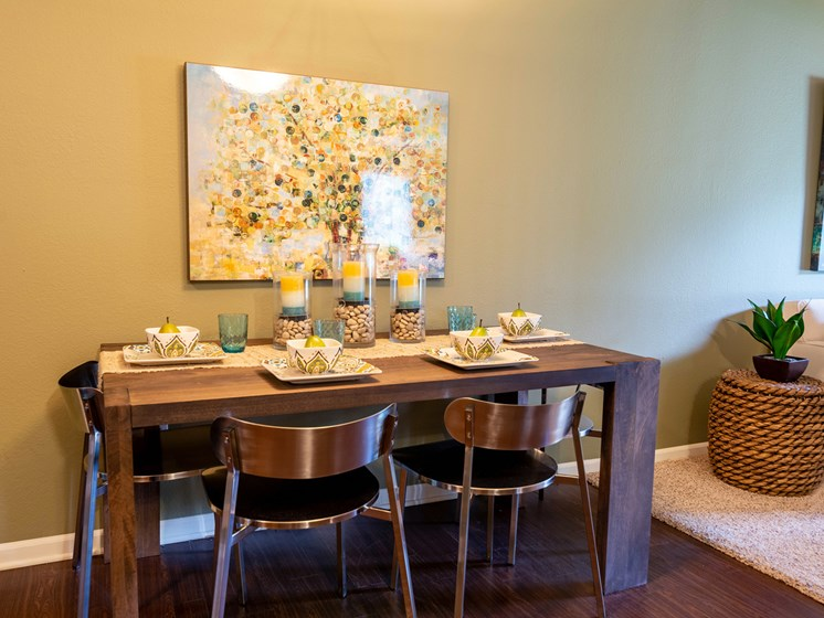 Dining Room at Woodland Ridge Apartments in Grand Haven, MI