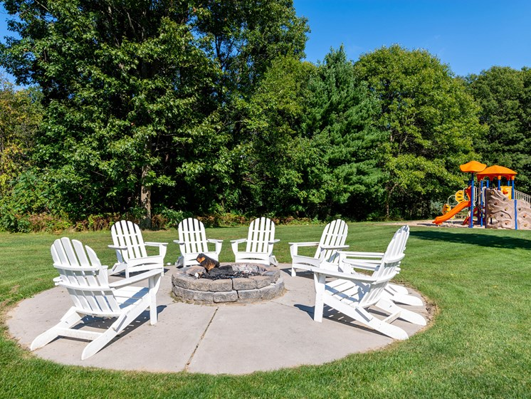 Fire Pit at Woodland Ridge Apartments in Spring Lake MI