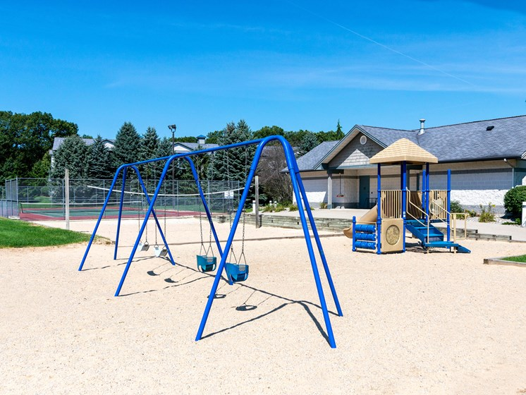 Playground at Woodland Ridge Apartments in Spring Lake, MI