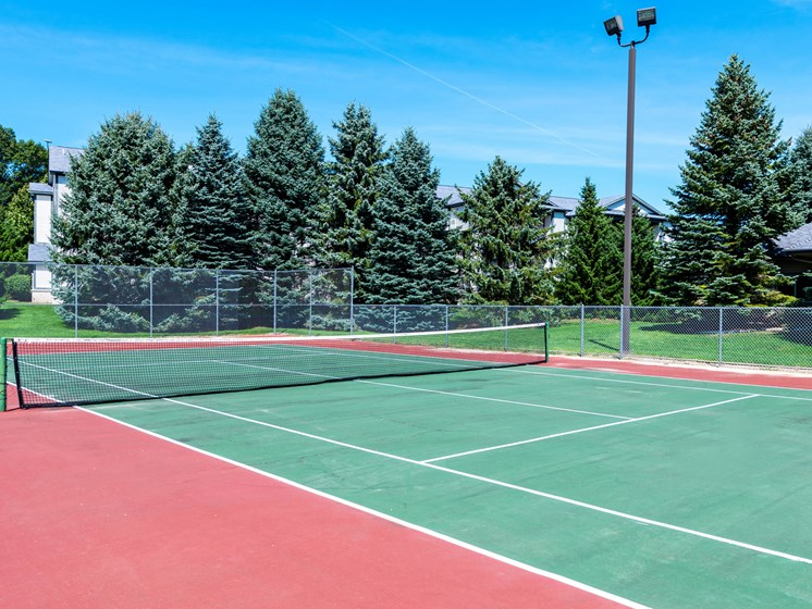 Tennis Court at Woodland Ridge Apartments in Grand Haven, MI